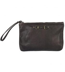 Victoria Brown Clutch