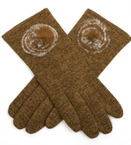Caramel Tweed Gloves
