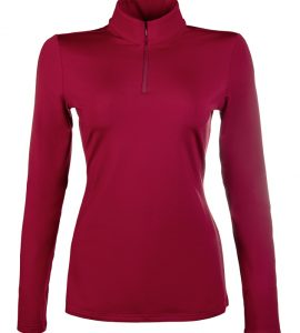 HKM wine red base layer