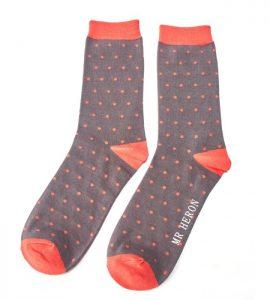 Men's Bamboo polka dot socks