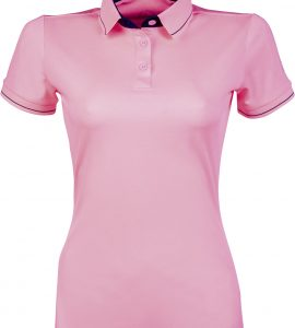 Neon Coral polo with sleeves
