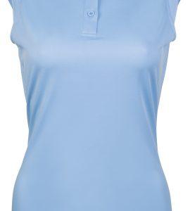 Light blue sleeveless polo