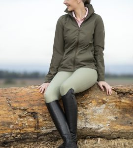 Olive rain jacket